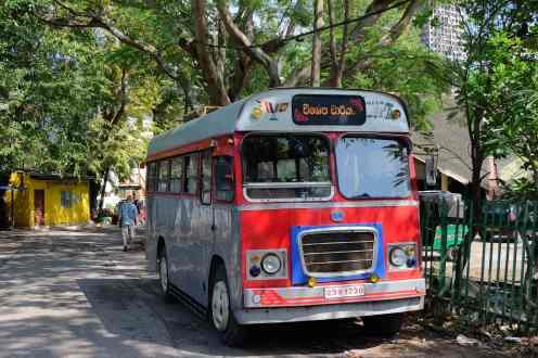 Visiting team bus.
