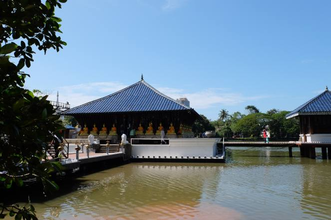 Temple on lake